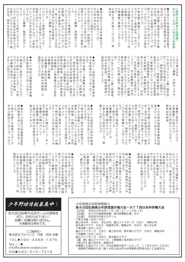 ブルペンズニュース【少年野球情報瓦版】第50号(8月号)-003