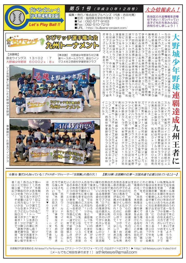 ブルペンズニュース【少年野球情報瓦版】第51号(12月号)-01